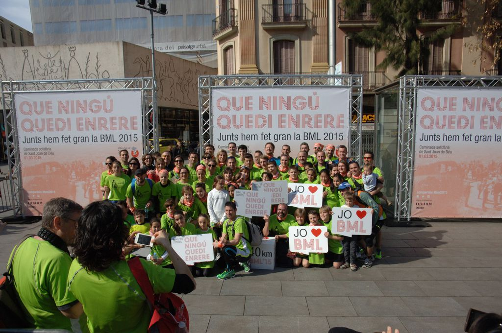 Caminada solidària de Sant Joan de Déu. Fotografies davant del photocall
