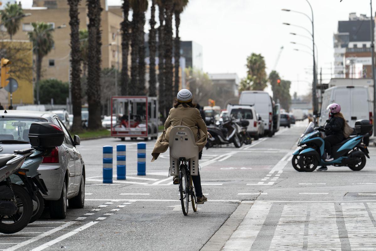 <div class='imageHoverDetail'>              <p class='imageHoverTitle twoLineBreak'>Una ciclista circula pel carril bici del passeig de la Zona Franca i, a un co...</p>              <p class='imageHoverAutor oneLineBreak'>Autor: Mariona Gil</p>              <button class='imageHoverBtn'>Mostra els detalls de la imatge <span class='sr-only'>Una ciclista circula pel carril bici del passeig de la Zona Franca i, a un co...</span></button>              </div>