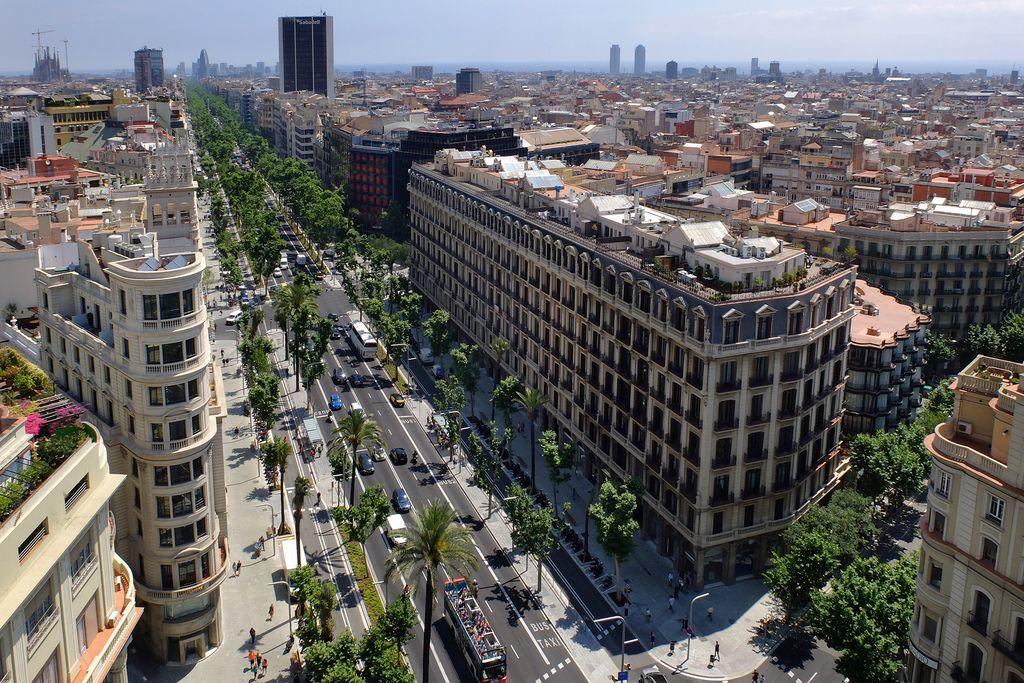 Avinguda Diagonal. Cruïlla amb el carrer del Bon Pastor vista des de dalt